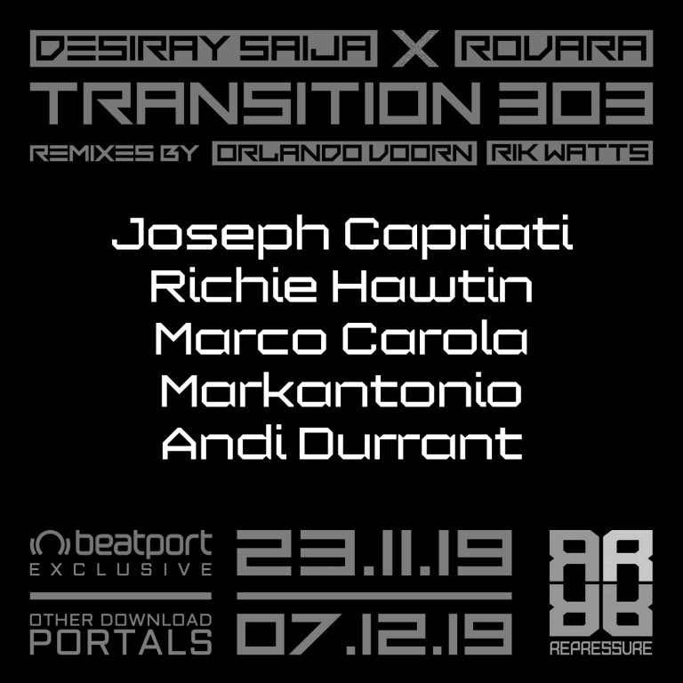 TRANSITION 303 ALREADY SUPPORTED BY BIG NAMES IN THE TECHNOSCENE!